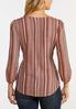 Plus Size Belted Stripe Top alternate view
