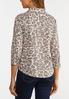 Plus Size Leopard Button Down Shirt alternate view
