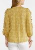 Plus Size Floral Ruffled Sleeve Top alternate view
