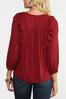 Plus Size Red Ruffled Top alt view
