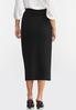Plus Size Ponte Pull- On Pencil Skirt alternate view