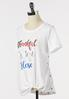 Plus Size Inspirational Knotted Tee alt view