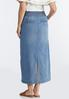 Plus Size Double Button Denim Maxi Skirt alternate view