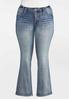 Plus Size Fleur Di Lis Pocket Jeans alternate view