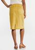 Gold Denim Skirt alternate view
