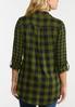 Plus Size Green Plaid Shirt alternate view