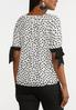Plus Size Spotted Tie Sleeve Top alternate view