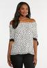 Plus Size Spotted Tie Sleeve Top alt view
