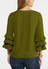 Plus Size Triple Ruffled Sleeve Top alternate view