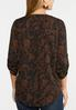 Plus Size Paisley Print Pullover Top alternate view