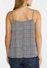 Plus Size Houndstooth Lace Trim Tank alternate view
