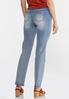 Petite Faded High- Rise Straight Leg Jeans alternate view