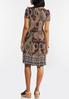 Plus Size Tribal Seamed Textured Dress alternate view