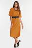 Plus Size Belted Puff Sleeve Dress alternate view
