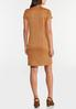 Plus Size Ribbed Faux Suede Dress alternate view