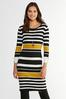 Plus Size Ribbed Striped Sweater Dress alternate view