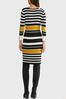 Plus Size Ribbed Striped Sweater Dress alt view