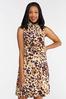 Plus Size Safari Dot Mock Neck Dress alternate view