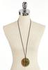 Lucite Pendant Cord Necklace alternate view