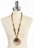 Oversized Mixed Bead Pendant Necklace alternate view
