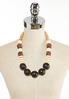 Mixed Wood Acrylic Bead Necklace alternate view