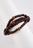 Wood Glass Bead Stretch Bracelet alternate view