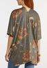 Plus Size Olive Floral Kimono alternate view