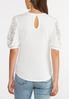 Lace Puff Sleeve Top alternate view