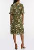 Plus Size Olive Babydoll Dress alternate view
