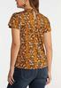 Plus Size Tiered Lace Floral Top alternate view