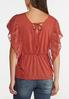 Plus Size Rust Lace Ruffle Top alternate view