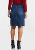 Plaid Pocket Denim Skirt alternate view