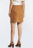 Plus Size Faux Suede Mini Skirt alternate view