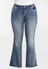Plus Petite Rhinestone Cross Pocket Jeans alternate view