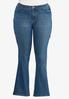 Plus Size Angel Wing Bootcut Jeans alternate view