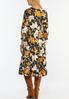 Plus Size Floral Tiered Midi Dress alternate view