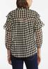 Plus Size Ruffled Houndstooth Top alternate view
