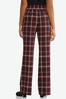 Wine Plaid Trouser Pants alt view