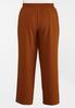 Plus Size Caramel Wide Leg Trouser Pants alternate view