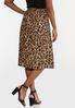 Plus Size Leopard Paperbag Waist Skirt alternate view