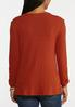 Plus Size Ribbed Button V- Neck Top alternate view