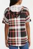 Plaid Hooded Top alt view