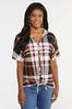 Plus Size Plaid Hooded Top alternate view