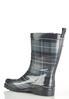 Plaid Mid Shaft Rain Boots alternate view