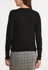 Plus Size Classic Black Cardigan Sweater alternate view