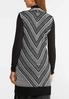 Plus Size Mitered Stripe Sweater Vest alternate view