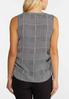 Plus Size Houndstooth Ruched Tank alternate view