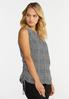 Plus Size Houndstooth Ruched Tank alt view