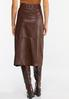 Faux Leather Midi Skirt alternate view