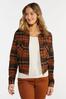 Plus Size Autumn Plaid Jacket alternate view